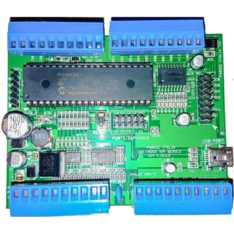 Scheda sviluppo V24 SMD PIC micro 40 pin 16F887 con 32 I/O comunicazione USB