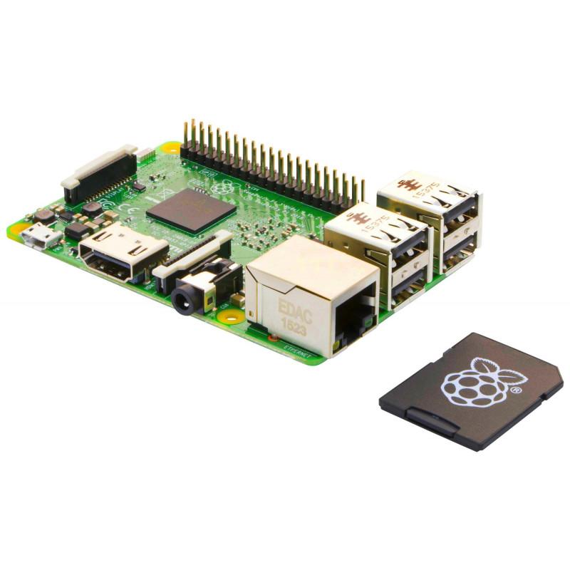 Raspberry Pi 3 Modello B + Scheda MicroSD 16GB con NOOBS Pre-caricato