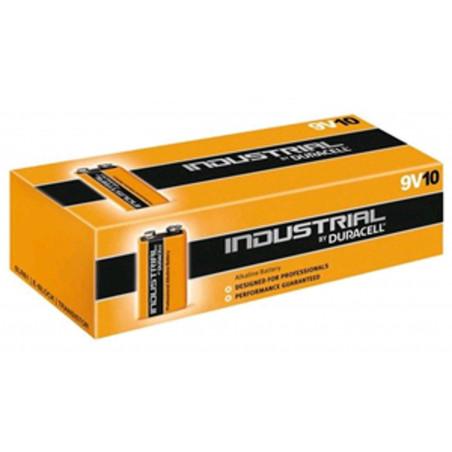 Set 10 pz MN1604 Duracell Industrial Pila transistor alcalina size 9 Volt 6LR61