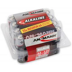Set da 20 pile Ansmann alcaline Red Line Stilo AA LR6