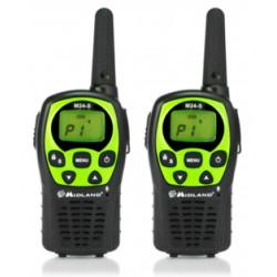 COPPIA DI RICETRASMETTITORI RADIO PMR446 MIDLAND 24 CANALI M24S