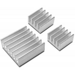 SET 3 dissipatori calore per Raspberry PI 2, 3 adesivi in allumino