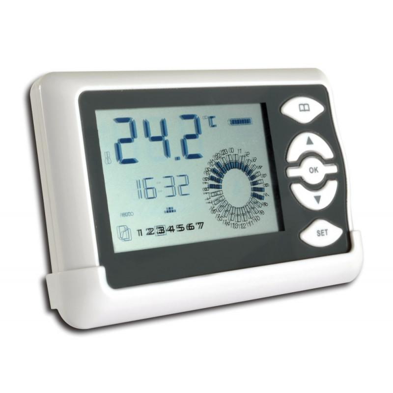 Cronotermostato wireless display LCD trasmettitore di zona da parete WMTE-701