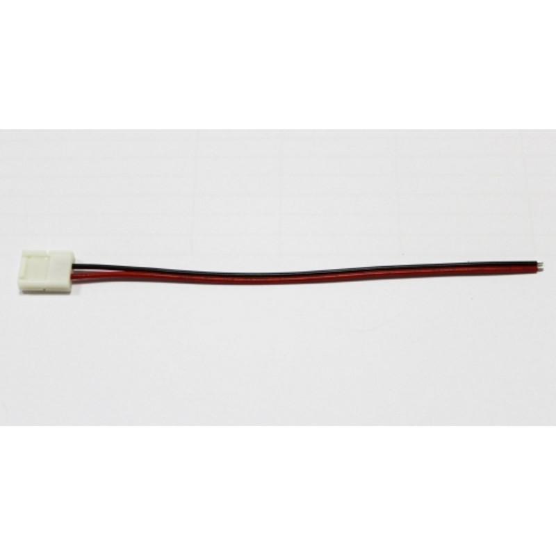 Raccordo apribile con fili per strisce striscia LED monocolore 8mm a 2 contatti