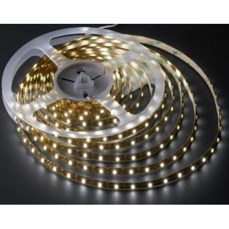 Rullo 5 metri striscia LED adesiva SMD 3528 IP65 bianco puro 12V DC