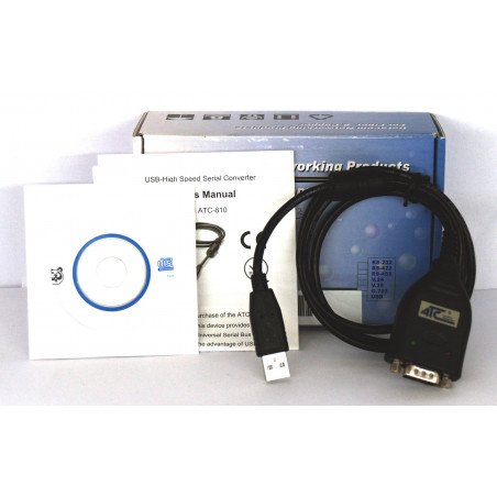 Convertisseur série USB avec puce FTDI compatible DB-9 RS232