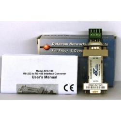 Convertisseur auto-alimenté RS232 RS485 ATC-106 avec commutation automatique
