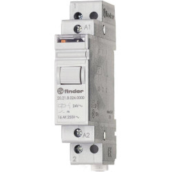 FINDER 20.21 12V DC bistable impulse relay with 1 NO NC 16A 250V contact