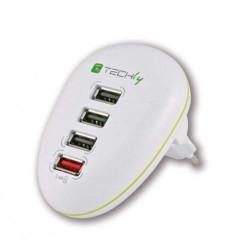Fuente de alimentación USB de conmutación estabilizada de 5VDC 2,5A de 4 puertos para Tablet, Smarphone