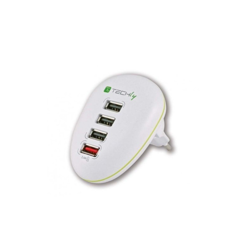 Alimentation 5VDC 2,5A à commutation stabilisée 4 ports USB pour tablette, Smarphone