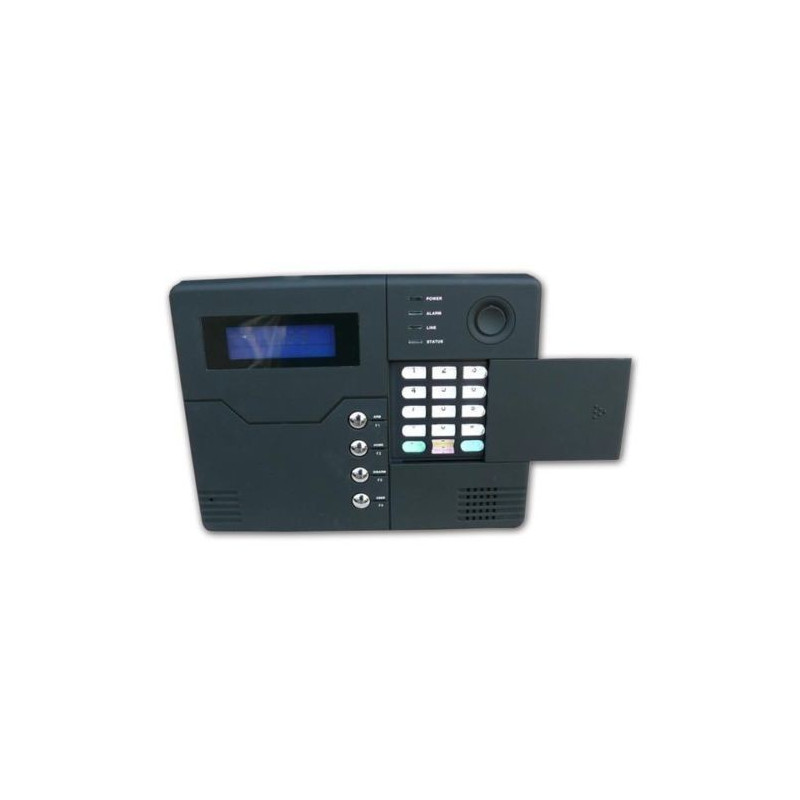 Wireless burglar alarm with PSTN GSM modem and optional wired connections