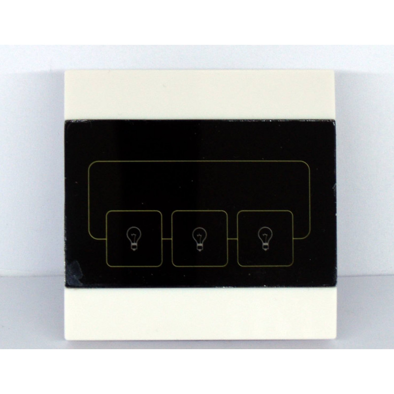 3-button TOUCH switch for 220V devices and 868 MHz remote control