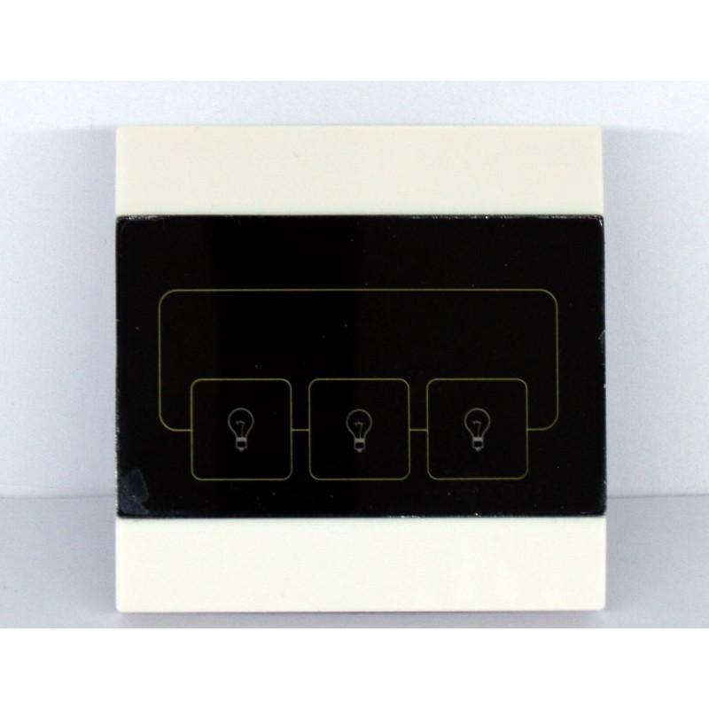 Interruttore TOUCH 3 pulsanti per dispositivi 220V e telecomando 868 MHz