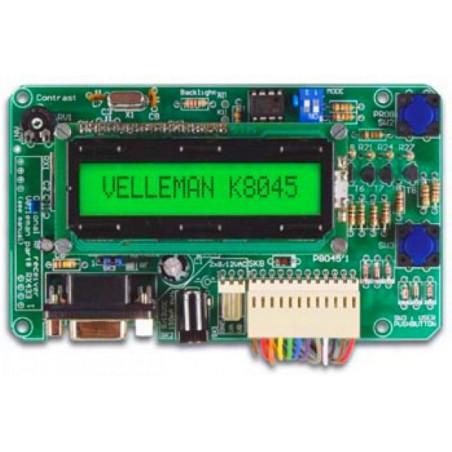 Display LCD con MESSAGGI PROGRAMMABILI richiamabili da input a pulsante