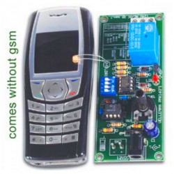 KIT Controllo remoto telefono GSM luce display segnalatore chiamata uscita relè