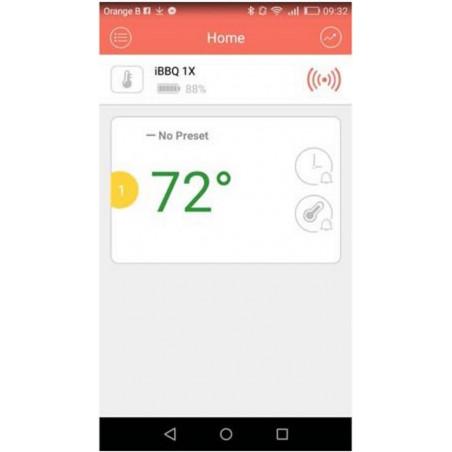 Sonda termometro wireless per Barbecue Bluetooth APP smartphone Android iOs