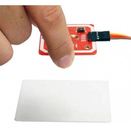 Shield Arduino LETTORE NFC RFID con due TRASPONDER 13.56MHz Android compatibile