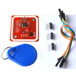 Shield Arduino LETTORE NFC RFID con due TRASPONDER 13.56MHz Android compatibile