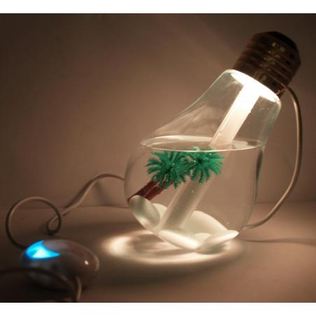 Umidificatore diffusore aroma USB a forma di lampadina luce LED multicolore