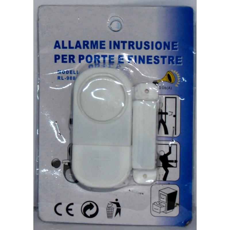 Allarme magnetico anti intrusione per porte e finestre con sirena a batteria