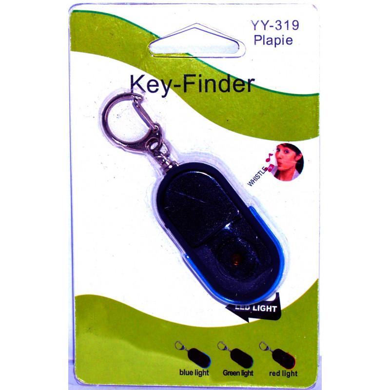 Trova chiavi portachiavi a fischio con suono e lampeggio led KEY FINDER