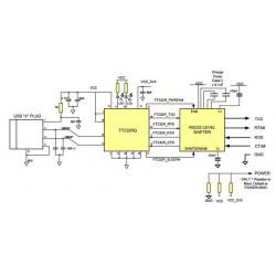 Convertitore cavo USB RS232 FTDI professionale connessione filare