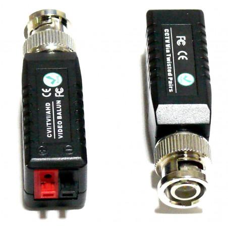 Coppia video balun per collegare telecamere AHD CVI TVI con cavo twisted UTP
