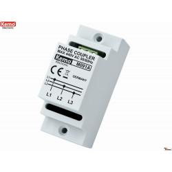 Accoppiatore DIN trifase reti powerline homeplug onde convogliate max 650 Mbit/s