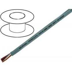 Câble conducteur au mètre cuivre multipolaire 12 pôles 0,14mm2 PVC gris LIYY 350V