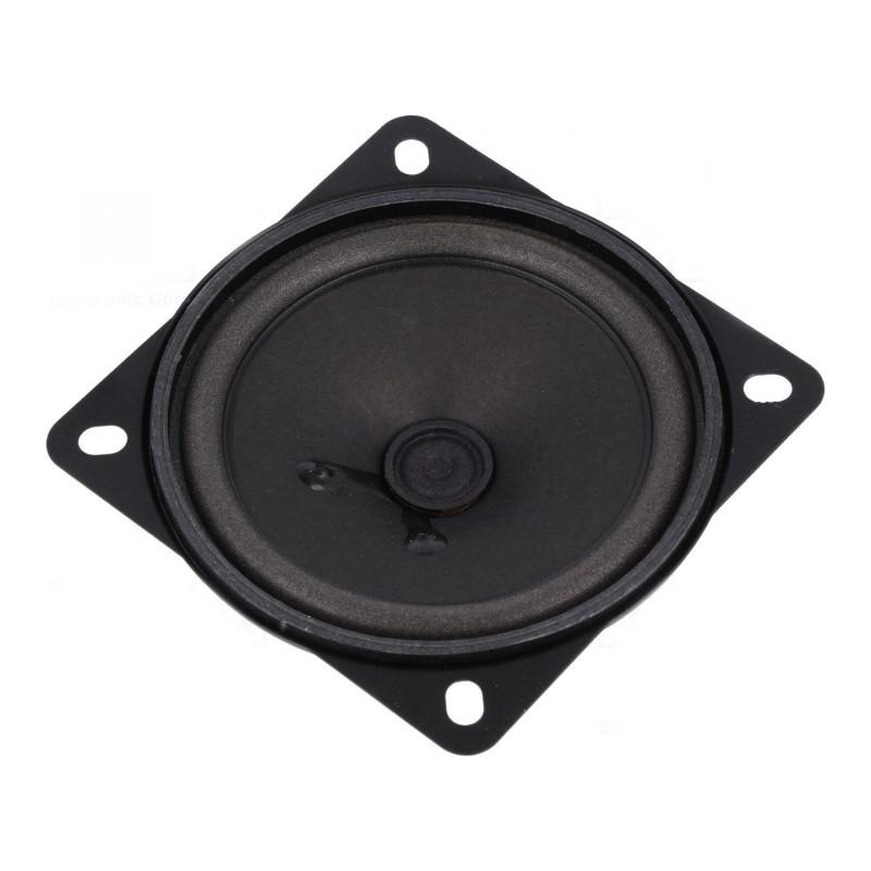 Altoparlante speaker miniaturizzato 4 Ohm 10W quadrato 87mm contatti faston