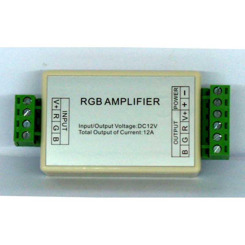 RGB amplifier for 12V 4A common anode LED strips