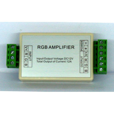 Amplificador RGB para tiras LED de ánodo común 12V 4A