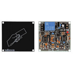ASSEMBLED Electronic RFID lock with door opener relay and on off 12V DC with antenna