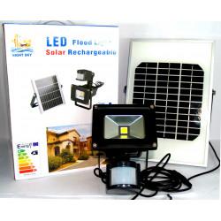 Faretto faro LED con sensore pannello fotovoltaico 10W 20W caldo freddo