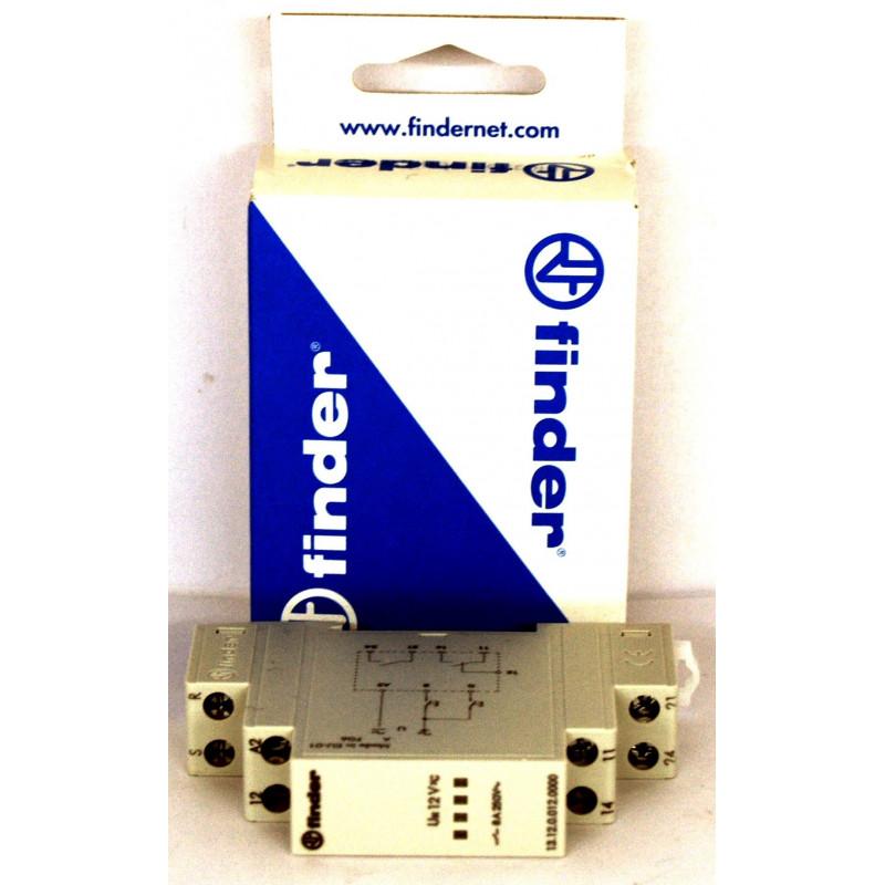 FINDER 13.12 Relè bistabile di chiamata (SET) con comando di reset 12V AC DC