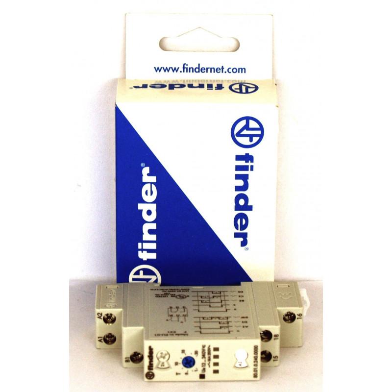 FINDER 80.01 Minuterie multifonction et multi-tension 12-240 V AC DC