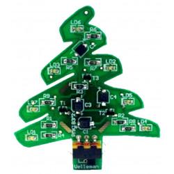 KIT Albero di NATALE SMD 7 LED luminosi alimentazione Mini USB o batteria CR2032