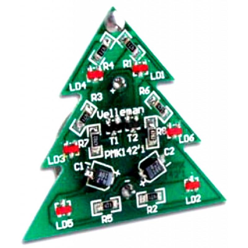 KIT Albero di NATALE SMD 6 LED luminosi alimentazione a batteria CR2032