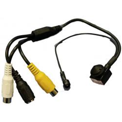 Micro telecamera PIN HOLE 960TVL con microfono e uscita audio e videocomposito