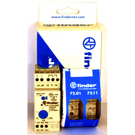 FINDER 72.01 Sensor Relé de control de nivel para líquidos conductores 24VDC