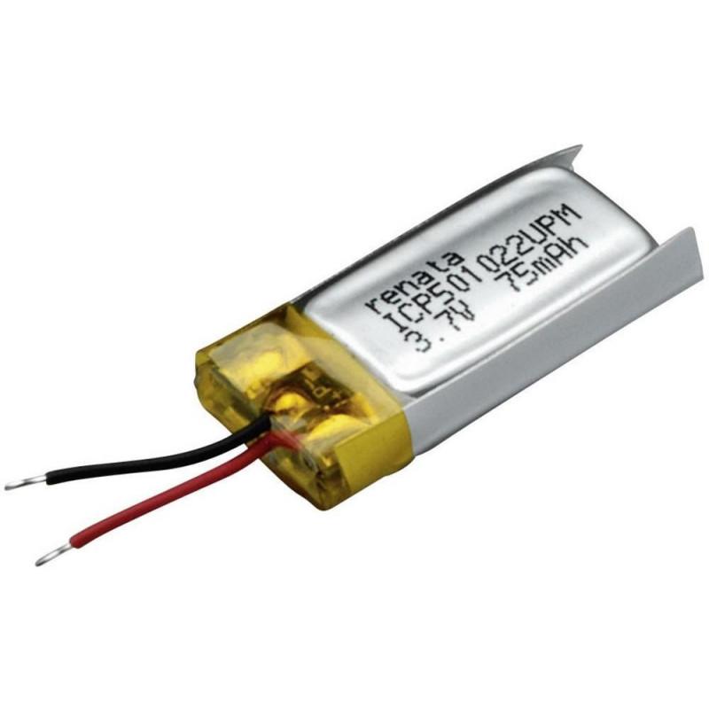 Batteria ricaricabile speciale Prismatica con cavo LiPo 3.7V