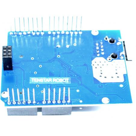 Ethernet shield compatibile per Arduino chip Wiznet W5100 slot microSD