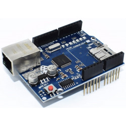 Ethernet shield compatibile per Arduino chip Wiznet W5100 slot microSD