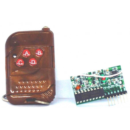 Arduino wireless 4-channel 433.92 MHz remote control with remote control included