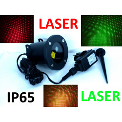 GREEN AND RED OUTDOOR WALL LASER STAR GAMES PROJECTOR