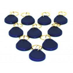 10 TAG RFID 125kHz EM4100 BLUE KEY RING