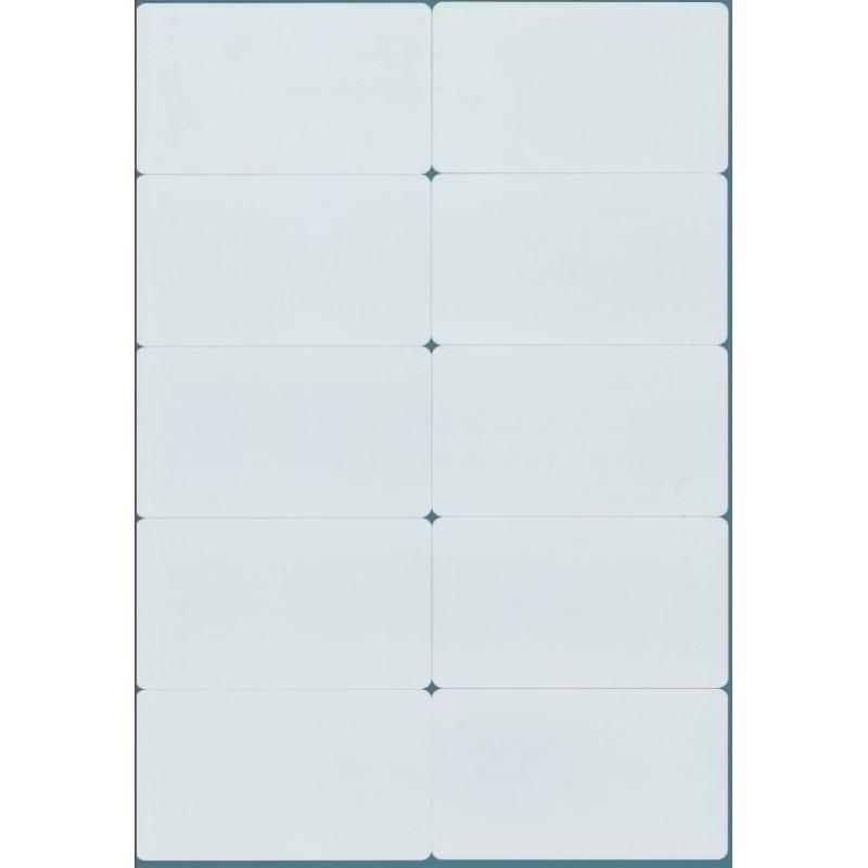 10 CARTES RFID EM4100 125kHz BLANC