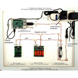 KIT domotica Raspberry PI RS485 I/O + temperatura + umidità con emoncms Node-RED