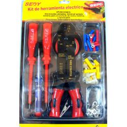 Set ferramenta elettrico crimpatrice capicorda, capicorda per cavi, cacciaviti