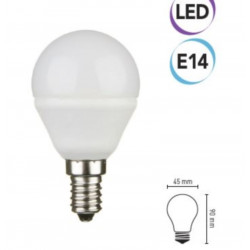 Lampadina LED 5W E14 400 lumen bianco caldo A+ Electraline 63296